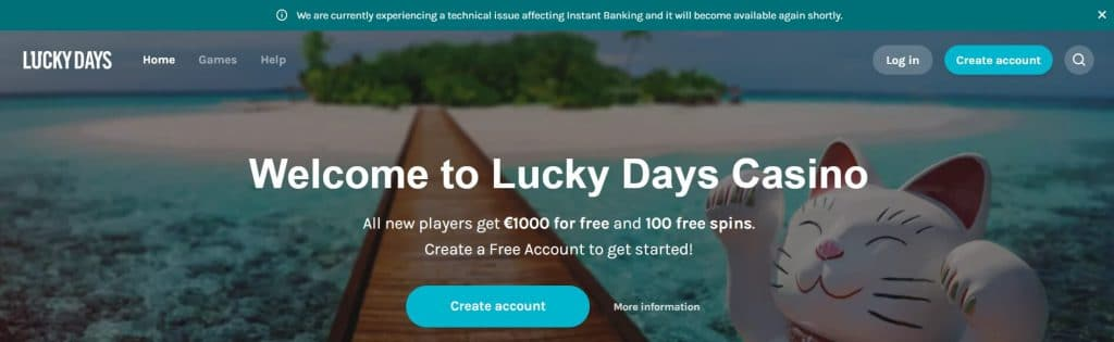 Lucky Days Casino Site